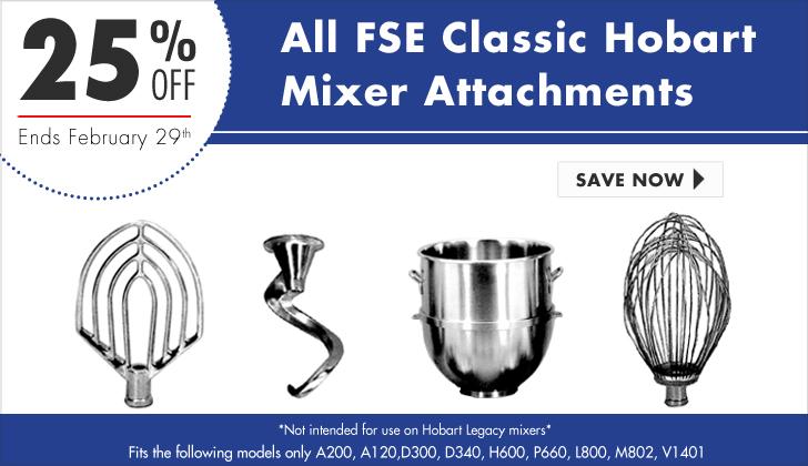 25 percent off mixer attachments