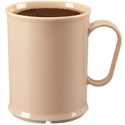 Cook's 10 oz Tan Polycarbonate Mugs - Cook's Brand