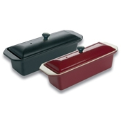 Matfer Bourgeat 71076 Red Le Chasseur Cast Iron Terrine with Lid  - Matfer Bourgeat