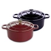 Matfer Bourgeat 71098 Le Chasseur Cast Iron Mini Round Stew Pot with Lid - Matfer Bourgeat