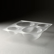 Rosseto Frosted Large Quad Tray - Servingware