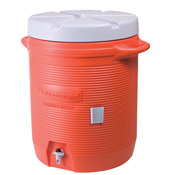 Rubbermaid Orange 10 Gallon Water Cooler - Beverage Carriers