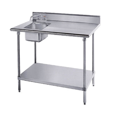 Stainless Steel Table Sink : Advance Tabco KMS-11B-306L-X Stainless Steel Work Table with Sink (KMS ...
