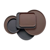 "Cambro 19-7/16"" Round Low Profile Trays - Serving Trays"