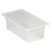 "Cambro Translucent 1/3 Size 4""D Food Pans - Third Size Steam Table Pans"