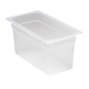 "Cambro Translucent 1/3 Size 6""D Food Pans - Third Size Steam Table Pans"