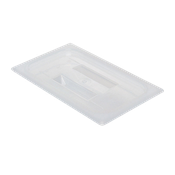 Cambro Translucent 1/4 Size Covers with Handles - Third Size Steam Table Pans