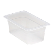 "Cambro Translucent 1/4 Size 4""D Food Pans - Fourth Size Steam Table Pans"