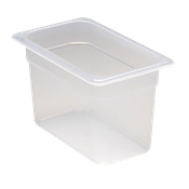 "Cambro Translucent 1/4 Size 6""D Food Pans - Fourth Size Steam Table Pans"