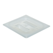 Cambro Translucent 1/6 Size Covers with Handles - Steam Table Pan Lids