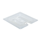 Cambro Translucent 1/6 Size Notched Covers with Handles - Steam Table Pan Lids
