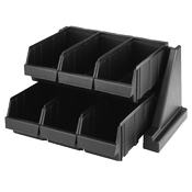 Cambro Organizer Black Rack w/6 Bins - Condiment Servers