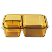 Cambro Amber Heat-Resistant Insert Trays - Cafeteria Trays