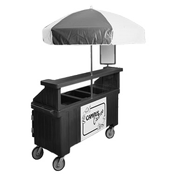 Cambro 3 Well Vending Cart w/Umbrella - Kiosks and Carts