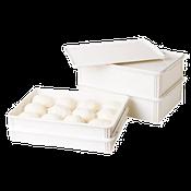 """Cambro 18""""L x 26""""W x 6""""D White Pizza Dough Box - Pizza Supplies"""