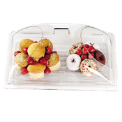 "Cambro Display Dome with 2 Ends Cut 12""Wx20""Lx6-5/8""H Clear Cover - Servingware"