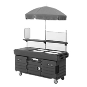 Cambro 4 Well Cart & Umbrella - Kiosks and Carts