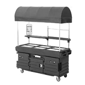 Cambro 6 Well Cart w/Canopy - Kiosks and Carts