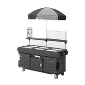 Cambro 6 Well Cart & Umbrella - Kiosks and Carts