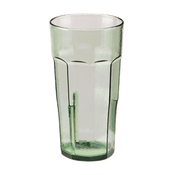 Cambro 22 oz Spanish Green Laguna Tumblers - Plastic Tumblers