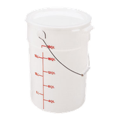Cambro White Handwash Pail w/Bail - Buckets and Pails