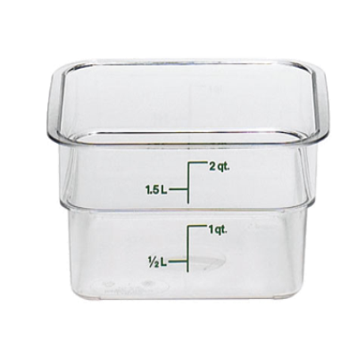 Cambro Camwear 2 qt. Clear CamSquare Containers