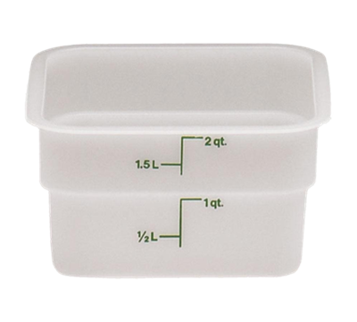 Cambro Poly 2 qt. CamSquare Containers