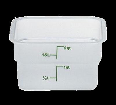 Cambro Translucent 2 qt. CamSquare Container