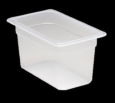 "Cambro Translucent 1/4 Size 6""D Food Pans"