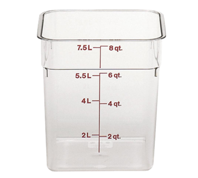 Cambro Camwear 8 qt. Clear CamSquare Containers