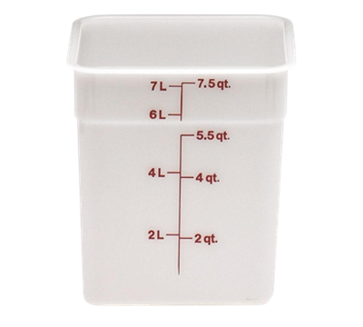 Cambro Poly 8 qt. CamSquare Containers