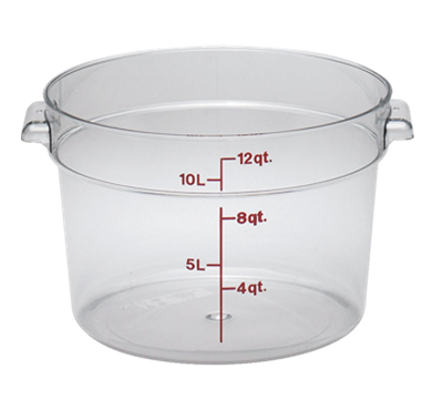 Cambro Camwear 12 qt. Round Food Storage Containers
