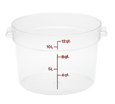 Cambro Poly 12 qt. Round Food Storage Containers