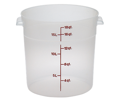 Cambro Translucent 18 qt. Round Food Storage Containers