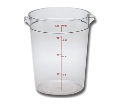 Cambro Camwear 8 qt. Round Food Storage Containers