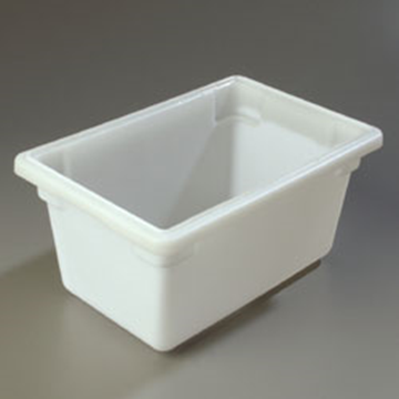 "Carlisle 12"" x 18"" x 9"" White Food Storage Box"