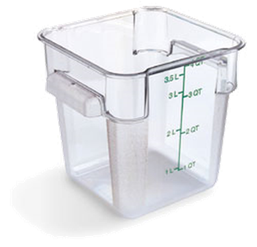 Carlisle StorPlus Clear 4 qt Square Food Storage Container
