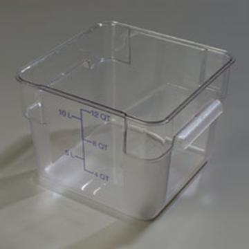 Carlisle StorPlus Clear 12 qt Square Food Storage Container