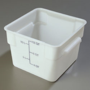 Carlisle StorPlus White 12 qt Square Food Storage Container