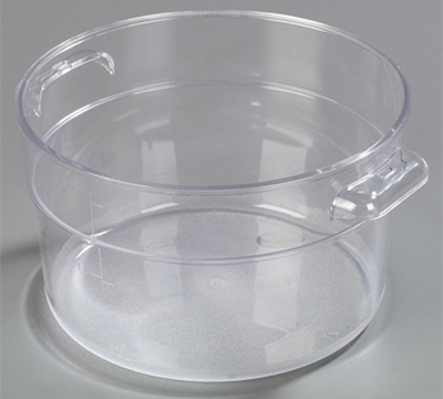 Carlisle StorPlus 2 qt Clear Round Container