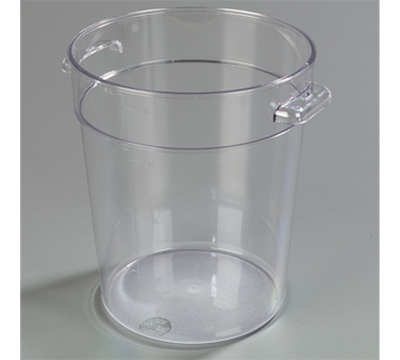 Carlisle StorPlus 4 qt Clear Round Container