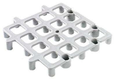 Carlisle 271023 Gray Floor Rack Square