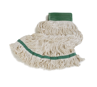 Carlisle 36952002 White Loop End Bamboo Silk Mop