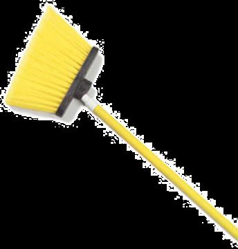 "Carlisle 54"" Yellow Duo-Sweep Angled Broom"