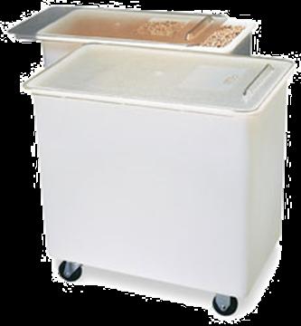 Carlisle 36 Gallon White Ingredient Bin