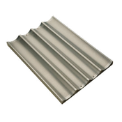 Focus 4-Mould Long French Bread Pans - Focus Foodservice