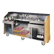 F.W.E. ES-CB-8-BW Portable Bar with Ice Sink - Portable Bars