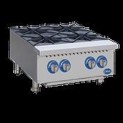 "Globe Countertop GHP24G 24"" 4-Burner Gas Hot Plate - Hot Plates"