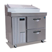 Hoshizaki HPR46A-D Professional Series Refrigerated Prep Table with Raised Rail Stainless Steel Front - Hoshizaki