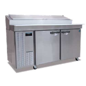 Hoshizaki HPR72A Professional Series Refrigerated Prep Table with Raised Rail (18) 1/6 Size Pan Capacity (Not Included) - Hoshizaki